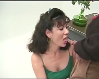 Sex instructor teaches horny Asian playgirl how to engulf properly