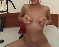 Leggy short haired dark brown mother I'd like to fuck used some toys to fuck her holes