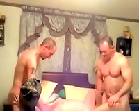 Me and my friend fuck one floozy in front of a hidden camera