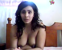 Extravagant large pantoons of a sexy Indian milf dark brown on livecam
