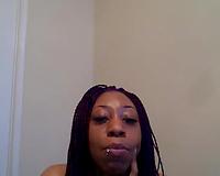 Kinky dark skinned web camera bitch showed off herself in pink stuff