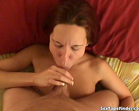 Awesome fine morning orall-service and sticky facial on web camera