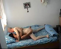 Horny older uncle copulates youthful sweetheart in a doggy position