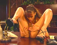 Two lesbian babes shows greater amount comfortable positions for carpet munch