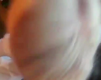Short haired sweetheart gives deepthroat irrumation to receives biggest facial