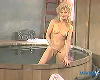 Tight and new looking vagina of blondie got permeated from behind