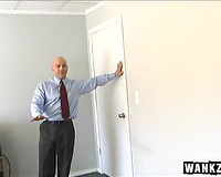 Sexy office assistant masturbates in front of her boss