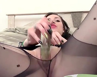 Naughty dilettante chick plays with a fake penis in astonishing solo scene