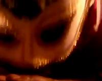 My masked ebon girlfriend blows my BBC like a hooker