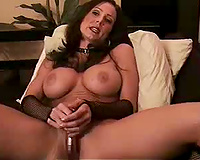 I expose my great boobs and stuff my twat with a sex toy