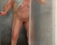 Nice fuck in the showed of my buddy and his wicked girlfriend