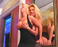 Stunning Blonde Lesbians Get On With Their Metal Dildo