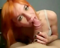 Fire kissed glamorous skinny chick of my buddy is fond of engulfing his plump 10-Pounder