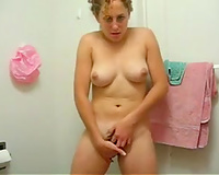 My 1st undress episode and solo masturbation in the washroom