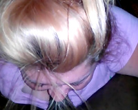 Blonde legal age teenager engulfing powerful dark weenie balls unfathomable