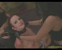 Fetish Threesome Rough Strapon Fucking