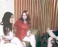 A threesome of hot and lascivious women are going to please each other