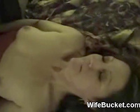 Sweet and delightful golden-haired milf dirty slut wife given to dark dude