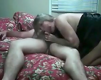 My bulky mature dirty slut wife jumps on my dick and blows it