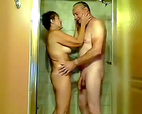 Nice romantic homemade vid of my aged neighbor pair in the shower