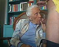 Grey haired titless wrinkled and exceedingly old whore sucked my buddy's pecker