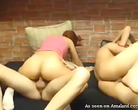 Young and wicked amateur Romanian couples fucking on webcam