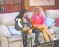 Vintage porn compilation with seductive hottie and 2 lesbian babes