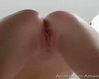 Awesome closeup POV dilettante sex session with cute white white bitch
