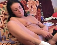 Amateur curvy Married slut alone having me time on her sexually starved wet crack