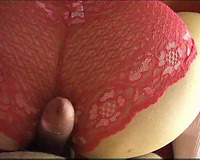 Curvy wifey lets me fuck her the one and the other taut holes doggy style