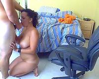 Big Tit bitch sucks shlong