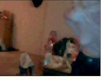 Pale skin aged whore form UK shows me her saggy rack on web camera