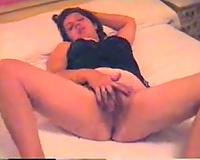 37 years old dark brown Arab Married slut of mine masturbates