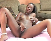 African excited doxy finger bonks her swarthy slit