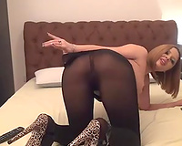 Skanky and hawt cam model takes off her hose