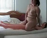 My fat and bootylicious girlfriend enjoying my sex present