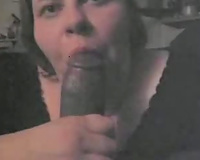 Slutty big beautiful woman officemate doxy sucks my monster BBC and takes facial