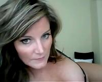 Marvelous blond milf playgirl on livecam in her bedroom