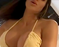 Big boobed MILF showing off her goodies on web camera