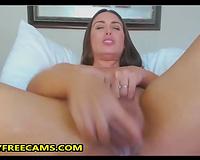 Brunette Mom Milk Tits And Fucks Dildo Hardcore