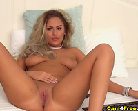 Gorgeous Babe Dildoing And Fingering Her Pussy