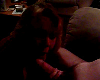Horny golden-haired cougar white lady pelasing me in the black room