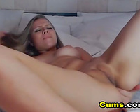 My Girlfriend Fingers herself and Licks her Cum