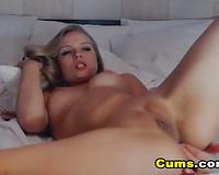 My Girlfriend Fingers herself and Licks her Cum