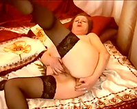 65 yo granny in hot nylons acquires gorgeous sexual for her online viewers
