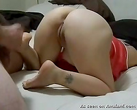 Submissive and sexy PAWG horny white wife exposes her arse