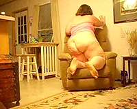 I think this plump older white lady gone eager and excited