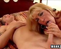 Big boobed sunburnt blond likes hard fucking on the ottoman