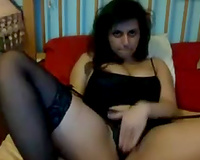 Amazing dilettante web webcam buxom playgirl was tickling her cum-hole for me