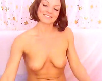 Exclusive redhead white beauty on web camera masturbating with a large toy